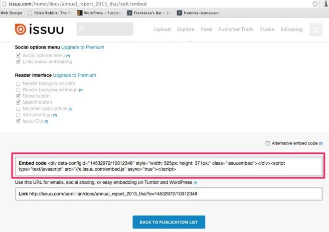 ISSUU - Edit your embed widget