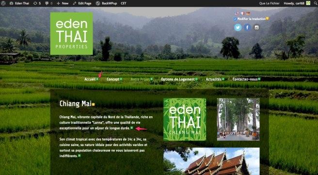 Notre projet | Eden Thai